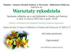 Warsztaty Rekodzieła @ filia Osiek nad Notecią | Osiek nad Notecią | Polska