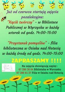"""RUSZA """"KĄCIK TWÓRCZY"""" @ Biblioteka w Wyrzysku"""